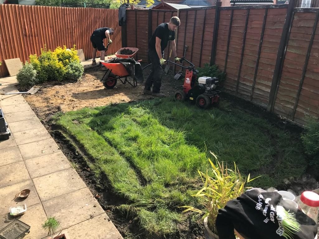 Preparing for artificial grass installation in Gloucester